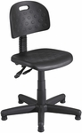 Soft Tough™ 25'' Dia x 28.50 Deluxe Task Chair Articulating Seat and Back - Black [6902-FS-SAF]