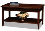Laurent Collection 39''W x 20''H Solid Wood Coffee Table with Display Shelf - Chocolate Cherry [10503-FS-LCK]