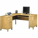 Somerset 59.25''W x 59.25''D L-Shaped Computer Desk - Maple Cross [WC81430K-FS-BHF]