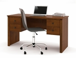 Somerville Executive Desk with Two Pedestals and Drawers - Tuscany Brown [45450-1163-FS-BS]