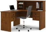 Somerville L-Shaped Desk with Hutch and Drawers - Tuscany Brown [45850-63-FS-BS]