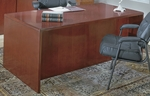 OSP Furniture Sonoma Wood 66'' Double Pedestal Desk - Cherry [SONTYP3-FS-OS]