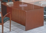 OSP Furniture Sonoma Wood 72'' Bow Top Desk - Cherry [SONTYP1-FS-OS]
