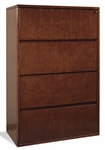 OSP Furniture Sonoma Wood Four-Drawer Lateral File - Cherry [SON-109-FS-OS]