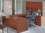 OSP Furniture Sonoma Collection U-Shaped Desk with Hutch - Cherry [SUITE1-FS-OS]