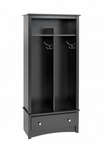 Sonoma Entryway Organizer with 5 Storage Compartments and 4 Coat Hooks - Black [BEL-3369-K-FS-PP]