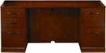 Sorrento 72'' W Double Pedestal Credenza with One Pencil Box File and One File File Pedestal - Bourbon Cherry [SCBF72SCR-FS-MAY]