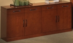Sorrento 72'' W Buffet Cabinet with Wood Doors- Bourbon Cherry [SBUFSCR-FS-MAY]