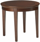 Sorrento 24'' Round End Table - Bourbon Cherry [SETSCR-FS-MAY]