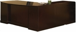 Sorrento Executive L Shaped Bow Front Desk with Pencil Box File Pedestal and Left Return with File File Pedestal - Bourbon Cherry [SLLBBF72SCR-FS-MAY]