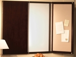 Sorrento 48'' W x 3.5'' D x 48'' H Presentation Board - Espresso [SCWBESP-FS-MAY]