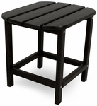 POLYWOOD® South Beach 18'' Side Table - Black [SBT18BL-FS-PD]
