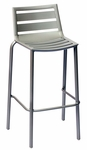 South Beach Stackable Outdoor Barstool Titanium Silver [DV550TS-BFMS]