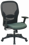 Space 2387 Professional Managers Chair with Air Grid Back and Fabric Seat [2387C-FS-OS]