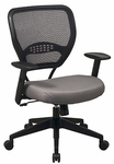 Space Air Grid Back Task Chair with Custom Fabric Seat and Lumbar Support [55-7N17-FS-OS]