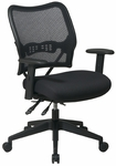 Space Deluxe Air Grid®Back Swivel Chair with Custom FabricSeat and Adjustable Arms [13-7N9WA-FS-OS]