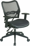 Space Deluxe Air Grid Seat and Back Swivel Task Chair with Dual-function Control - Black [13-77N9WA-FS-OS]