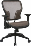 Space Air Grid Seat and Back Chair with 2-to-1 Synchro Tilt Control and Height Adjustable Padded Arms - Latte [213-88N1F3-FS-OS]