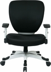 Space Pulsar Padded Mesh Seat and Back Managers Office Chair - Black [5200W-3-FS-OS]