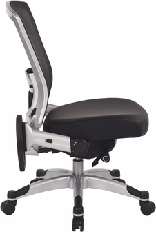 space r2 spacegrid back office chair with memory foam bonded
