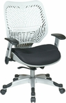 Space REVV Self Adjusting SpaceFlex Back and Mesh Seat Managers Chair with Adjustable Arms - Ice Back and Raven Seat [86-M32C625R-FS-OS]