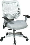 Space REVV Self Adjusting SpaceFlex Back and Mesh Seat Managers Chair with Adjustable Arms - Ice Back and Shadow Seat [86-M22C625R-FS-OS]