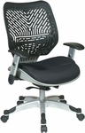 Space REVV Self Adjusting SpaceFlex Back and Mesh Seat Managers Chair with Adjustable Arms - Raven [86-M33C625R-FS-OS]