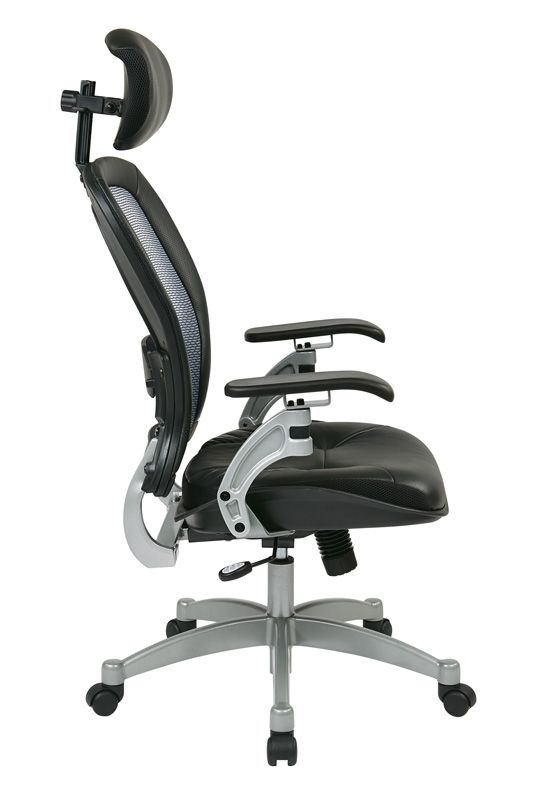 space professional light air grid back office chair with