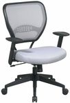 Space Air Grid Back Task Chair with Lumbar Support and Adjustable Arms - Shadow [55-M22N17-FS-OS]