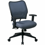 Space VERA Series Deluxe Task Chair with VeraFlex Back - Blue Mist [13-V77N1WA-FS-OS]