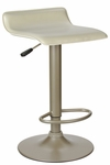Spectrum Airlift Stool with Beige Faux Leather Seat [93829-FS-WWT]