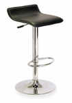 Spectrum Airlift Swivel Stool with Black Faux Leather Seat [93129-FS-WWT]