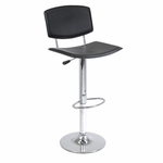 Spectrum Swivel Curved Faux Leather Seat Stool [93140-FS-WWT]