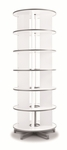 Moll 6 - Tier Spin N File Rotary Binder Storage Carousel for Letter Sized Materials - White [TURN6-FS-EOS]