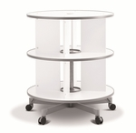 Moll 2 - Tier Spin N File Rotary Binder Storage Carousel for Letter Sized Materials - White [TURN2-FS-EOS]