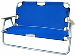 Two Person Folding Aluminum Frame Sport Couch with Storage - Royal Blue [772625-FS-ALG]