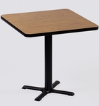 Laminate Top Square Cafe Table with 29''H Cast Iron X-Base - 24''D x 24''W [BXT24S-CRL]