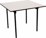 Square Card Table with Aluminum Edge and Mayfoam Top - 30''W x 30''D x 30''H [MF30CD-CAE-MFC]