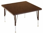 Customizable Square Non-Folding Adjustable Height Activity Table with Chrome Inserts - 36''W x 36''D x 23-30''H [SA-366-C-BKS]