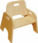 6''H Ready to Assemble Stackable Wooden Toddler Chair - Natural Finish [ELR-18005-ECR]
