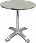 Stainless Steel Round Table Top with Aluminum Base [760R-HND]