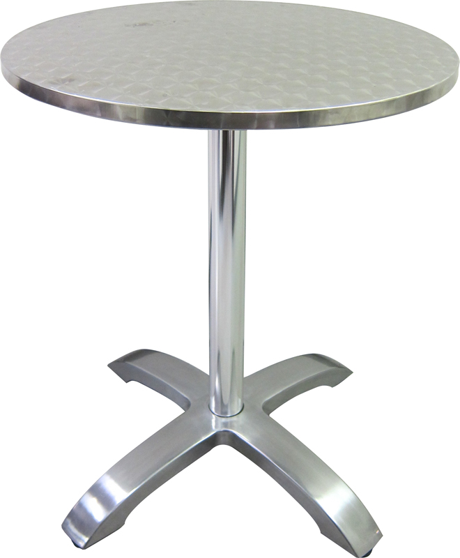 stainless steel round table top with aluminum base 760r by hu0026d restaurant supply bizchaircom - Stainless Steel Table Top