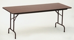 Fixed Height Rectangular High-Pressure .62'' Thick Top Folding Table - 24''D x 48''W [CF2448P-CRL]