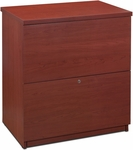 Two Drawer Standard Lateral File for Legal and Letter Sized Papers - Bordeaux [65635-2139-FS-BS]