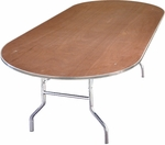 Standard Series Race Track Banquet Table with Plywood Top - 72''D x 36''W x 30''H [MP3672RACE-MFC]