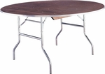 Standard Series 30'' Round Folding Banquet Table with Plywood Top [MP30RDFLD-MFC]