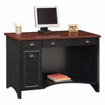 Stanford 47-1/2''W x 20-3/4''D Computer Desk - Black and Cherry [WC53918-03-FS-BHF]