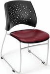 Stars Stack Chair with Vinyl Seat - Wine [325-VAM-603-MFO]