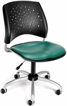Stars Swivel Chair with Vinyl Seat - Teal [326-VAM-602-FS-MFO]