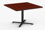 StarX 1 Day Quick Ship 42'' x 42'' Breakroom Table with Cast Iron X-Base [1D-STRX-4242-SPT]